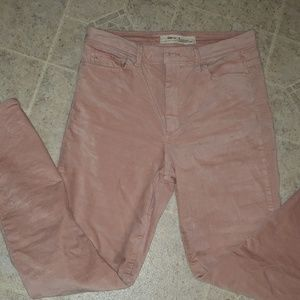 GAP Pink Velvet High Rise Jeans size 30
